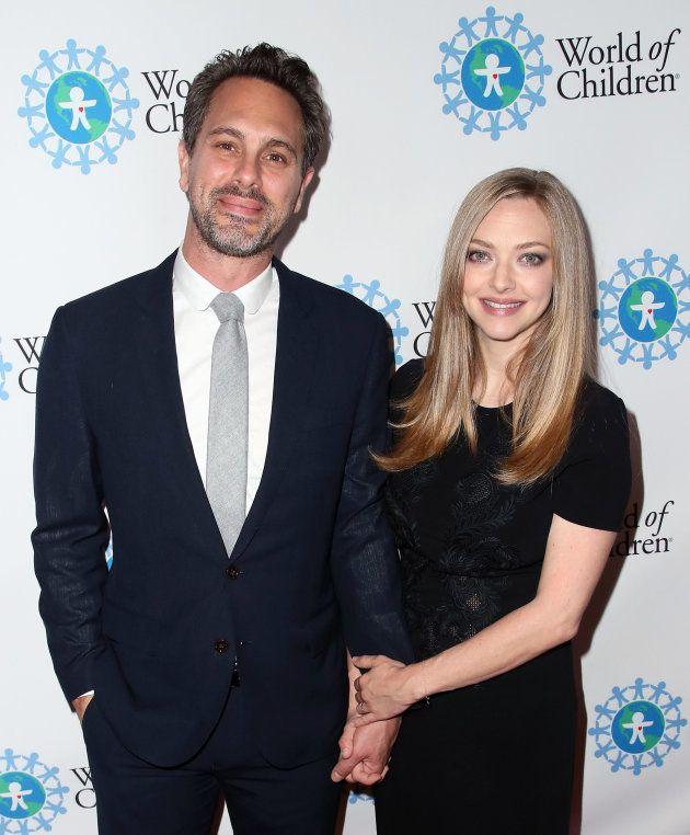 Junto a su marido, el actor Thomas Sadoski, en un evento en abril de