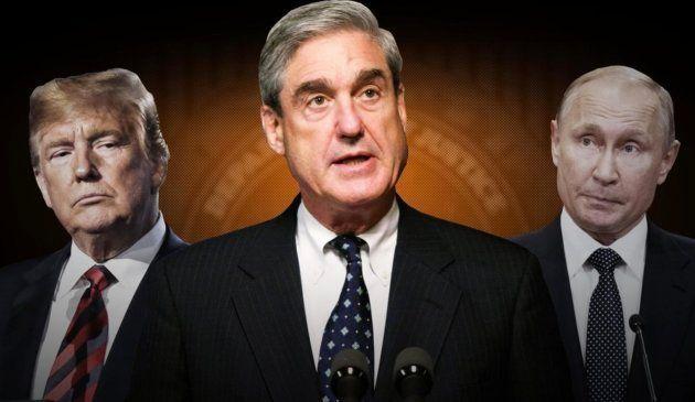 El fiscal especial Robert Mueller, en el centro, es el encargado de llevar a cabo la investigación por...
