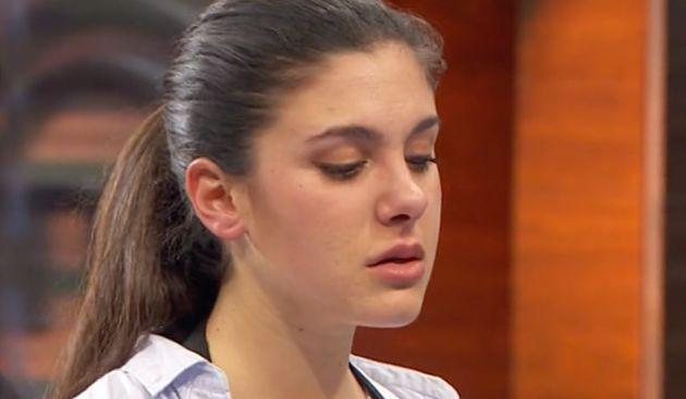 Una joven modelo rompe a llorar en 'MasterChef 6' con la cara descompuesta de Jordi Cruz al ver su