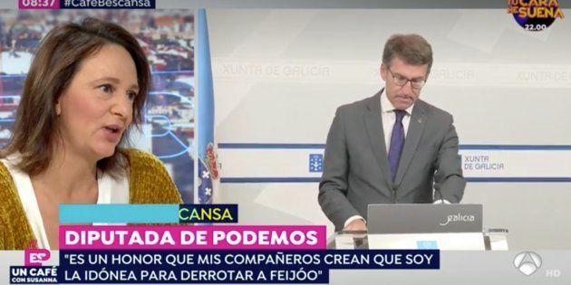 Carolina Bescansa, en 'Espejo Público', sobre Feijóo:
