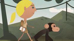 Jane Goodall en el Doodle de Google por el Día de la