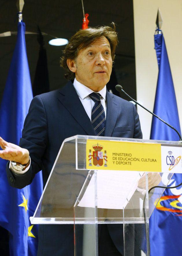 El presidente del Consejo Superior de Deportes, José Ramón Lete, durante la rueda de prensa de