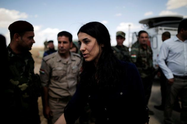 Nadia Murad, cerca de Sinjar, Irak el 1 de junio de