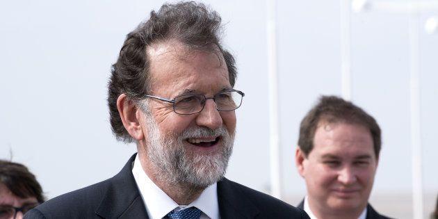 El presidente del Gobierno, Mariano Rajoy, en su reciente visita a