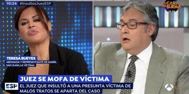 Bronca en directo en 'Espejo Público' entre Juan Manuel de Prada y Teresa Bueyes: