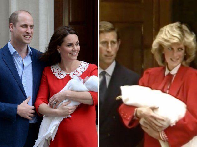 El ¿guiño? de la duquesa de Cambridge a Diana de Gales al presentar a su tercer