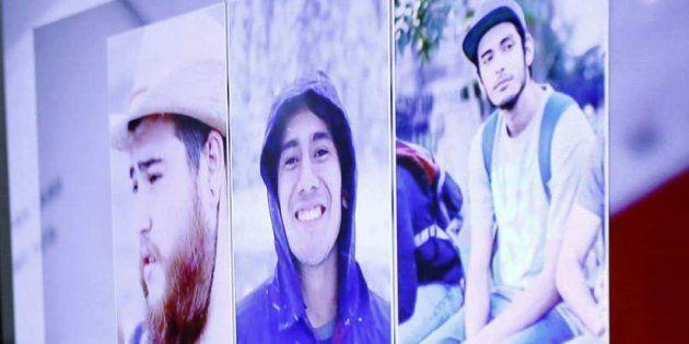 Imágenes de los tres estudiantes