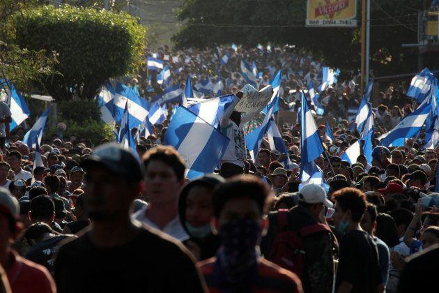 Manifestación contra el Gobierno en