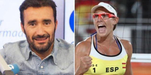 Tensa discusión entre Juanma Castaño y la jugadora de voley Liliana Fernández en 'El Partidazo' de