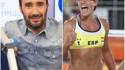 Tensa discusión en directo entre Juanma Castaño y la jugadora de voley Liliana