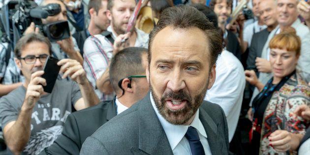 Nicolas Cage llega a la tercera jornada del Festival de Cine de Sitges, el 6 de octubre de