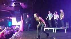 Ana Guerra improvisa un 'Lo malo' con unos bailarines muy