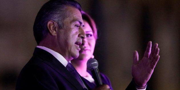 Jaime Calderon, en un acto e campaña este fin de