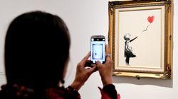 Banksy muestra cómo gestó la destrucción de su obra
