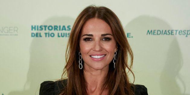 Paula Echevarría durante la promoción de la película 'Ola de crímenes', el 3 de octubre en