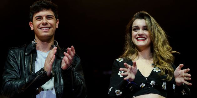 Alfred y Amaia en el concierto de La Noche De Cadena 100 en el WiZink Center de