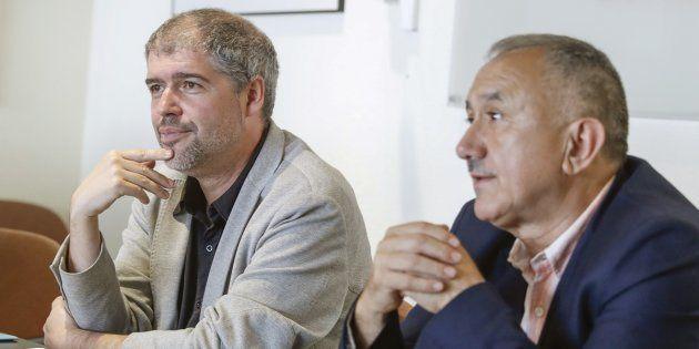 Unai Sordo y Pepe Álvarez, en una imagen de