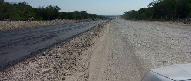 Un tramo de la carretera donde desapareció