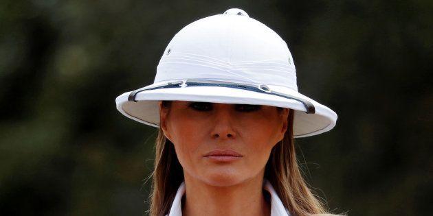 Críticas generalizadas a Melania por visitar África con este sombrero (y todo lo que