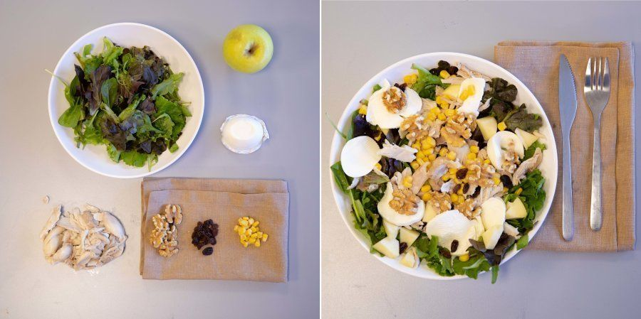 Recetas fáciles: ensalada de pollo y