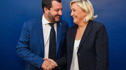 Salvini y Le Pen lanzan un