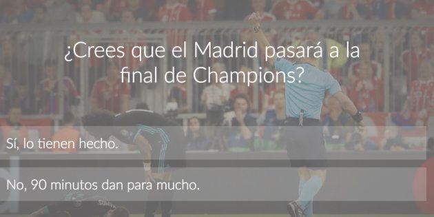 ENCUESTA: ¿Crees que el Real Madrid pasará a la final de