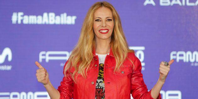 La presentadora Paula Vázquez, durante la presentación del programa 'Fama, a bailar' en Madrid el 7 de...