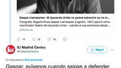 El tenso y delirante enfrentamiento en Twitter entre Llamazares y una agrupación de IU por una
