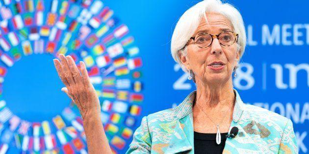 La directora gerente del Fondo Monetario Internacional (FMI), Christine