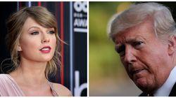 Taylor Swift pide el voto para los demócratas y la respuesta de Trump no tiene