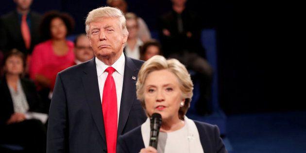 Donald Trump y Hillary Clinton durant la campaña electoral de