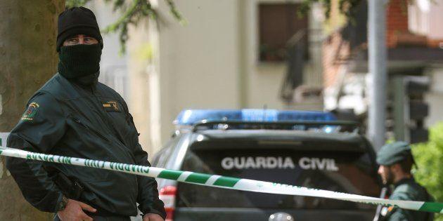 Operativo antiyihadista de la Guardia Civil, el pasado 24 de abril, en