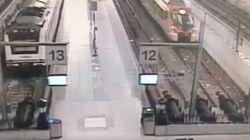 Una cámara de seguridad captó el momento del accidente del Rodalies en