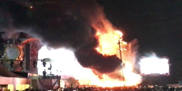 Un incendio obliga a evacuar el festival Tomorrowland de