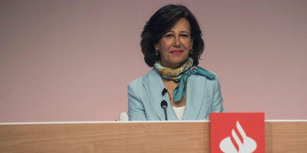 La presidenta del Banco Santander, Ana Botín, en la última junta de