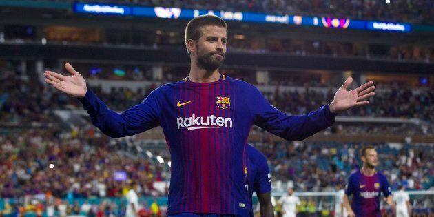 Piqué da la victoria al Barça en el primer 'clásico' de la