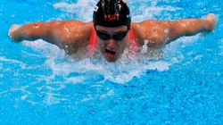 Mireia Belmonte , medalla de plata en la categoría de 400