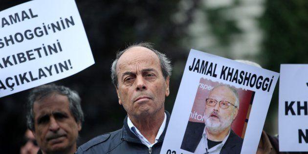 Manifestación por la búsqueda del periodista Jamal