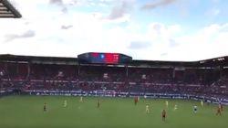 La afición del Osasuna se solidariza con la víctima de 'La