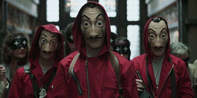 Cae una banda argentina que usaba máscaras como las de 'La casa de