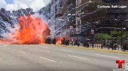 Siete agentes venezolanos, heridos tras la explosión de sus motos en una
