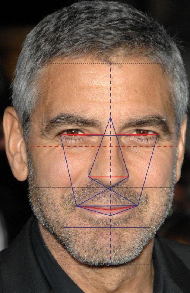 George Clooney cumple casi a la perfección con el ideal de belleza establecido por el número