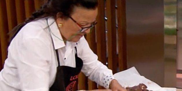 Loli se marca 'un Cifuentes' en la prueba de eliminación de 'Masterchef' y le sale
