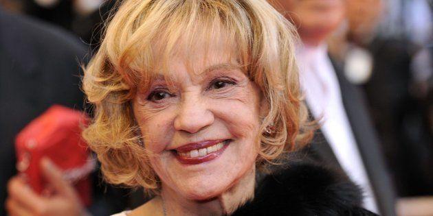 Jeanne Moreau en el pase de 'Vicky Cristina Barcelona', de Woody Allen, en el 61º Festival de Cine de...