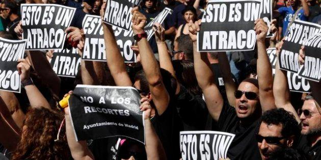 Protestas contra los recortes durante la crisis