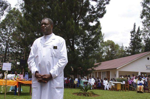 El dr Mukwege en el Hospital Panzi, donde