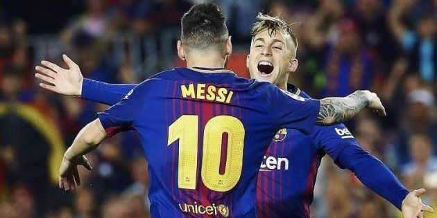 El Barça olvida a Deulofeu en las camisetas conmemorativas de la Liga y el futbolista estalla: