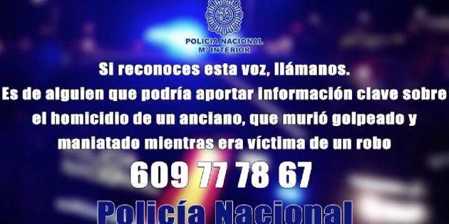 Imagen del llamamiento hecho por la Policía Nacional para esclarecer el