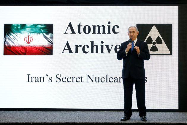 Netanyahu, durante su rueda de prensa de