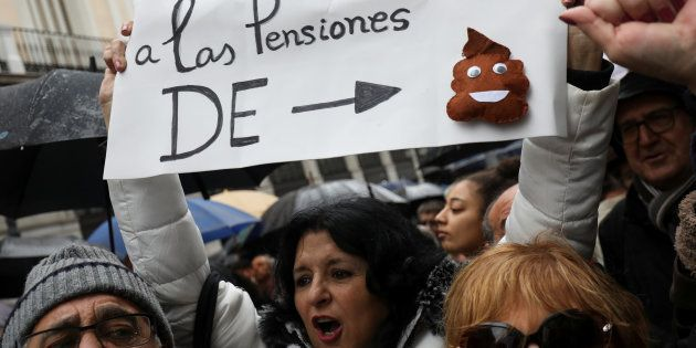 Manifestación por la subida de las pensiones en Madrid, el pasado 1 de